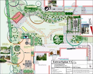 Hausgarten Erweiterung, neue Sitzplätze und Garteninseln gestalten Umgestaltung des Wohngartens in Wittnau, Helmut Lamprecht Gartenplaner