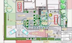 Neugestaltung der Hauszufahrt und des  modernen Eingangs Bad Bellingen, Gartenplaner Helmut Lamprecht