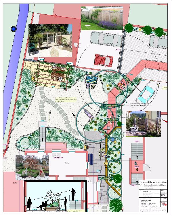 Hauseingang und Sitzplatz umgestalten in Oberried, Gartenplanung Helmut Lamprecht