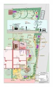 Mediterraner Garten mit Natursteinmauern , Gartenplanung Helmut Lamprecht