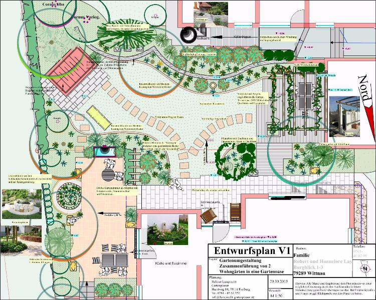 Gartenpla, Hausgartenplan in Freiburg